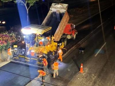Trabajos Nocturnos en Carretera a Chapala tramo de Santa Rosa a Periférico Sur cuerpo B - Grupo Eunice